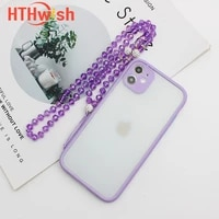 mobile phone lanyard hanging neck hanging chain pendant crystal beads hand made anti lost rope for iphone xiaomi huawei strap