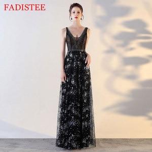 Sexy V-neck Black Sleeveless Evening Dress Vestido De Festa Prom Dress Robe De Soiree Robe De Soirée De Mariage вечерние платья