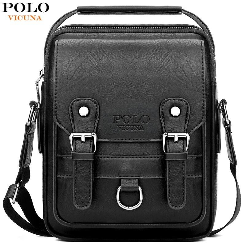 Сумка VICUNA POLO, кожаная мужская сумка-мессенджер с бумажником, Повседневная брендовая сумка через плечо высокого качества, деловая мужская сумка на плечо