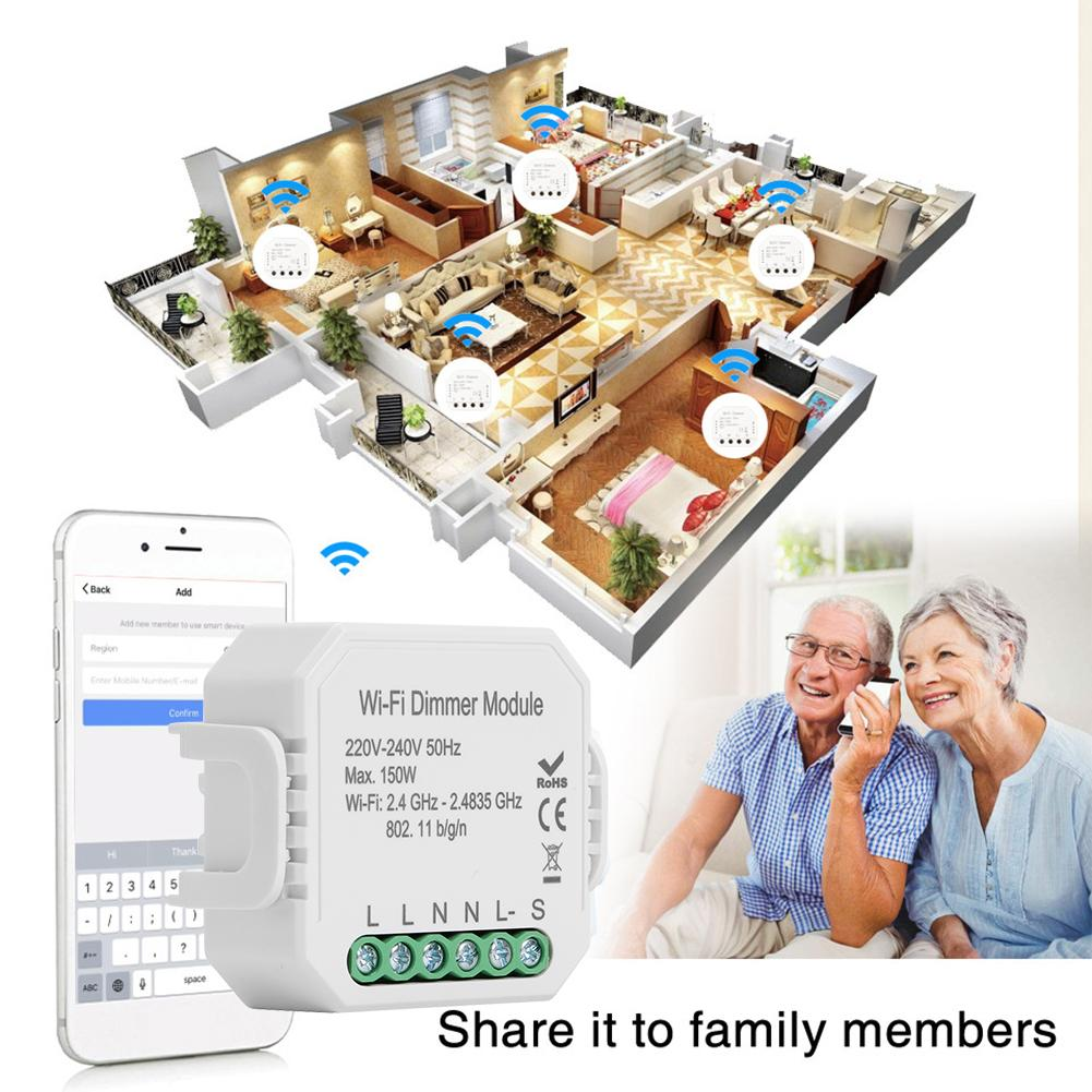 Tuya Intelligent DIY WiFi Dimmer Module for Alexa Google Assistant APP Control with Long Service Life 100000 Operations