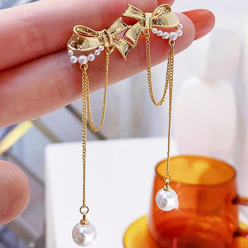 Французские-серьги-гвоздики-из-настоящего-золота-14-к-в-стиле-ретро-с-кисточкой-для-женщин-романтические-изысканные-роскошные-аксессуары-ха