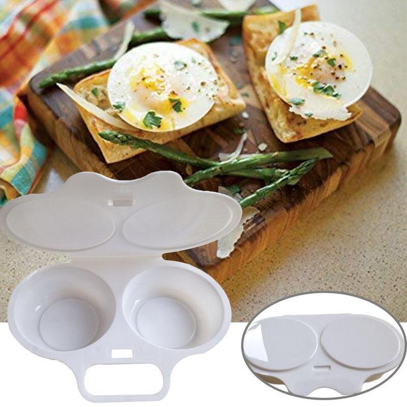 Horno microondas de cocina forma redonda vaporera de huevos molde de cocina batidor de huevos utensilios de cocina utensilio para freír huevos