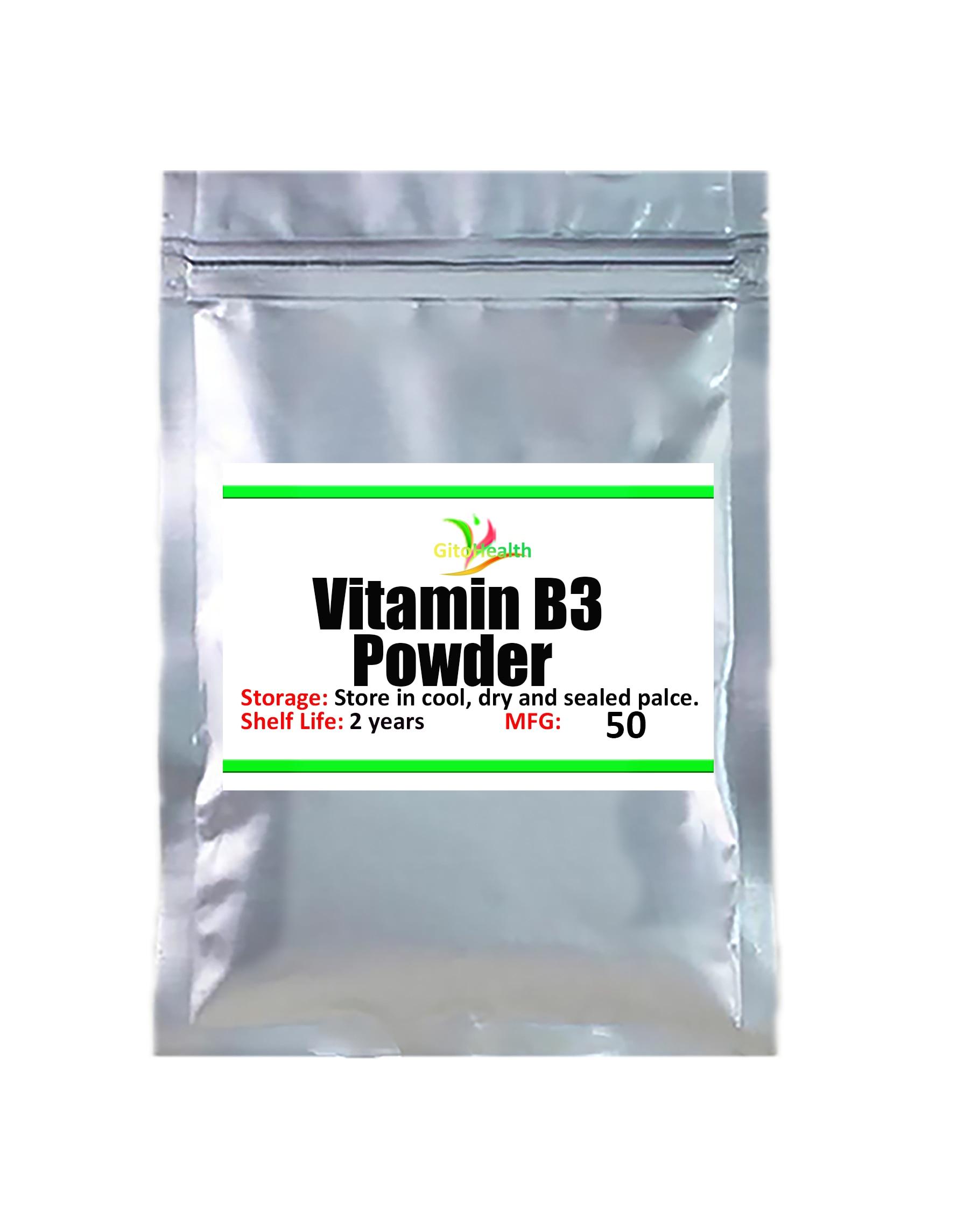 Best selling 100% nicotinamide vitamin B3 powder, improve skin, lower cholesterol, anti-aging.package
