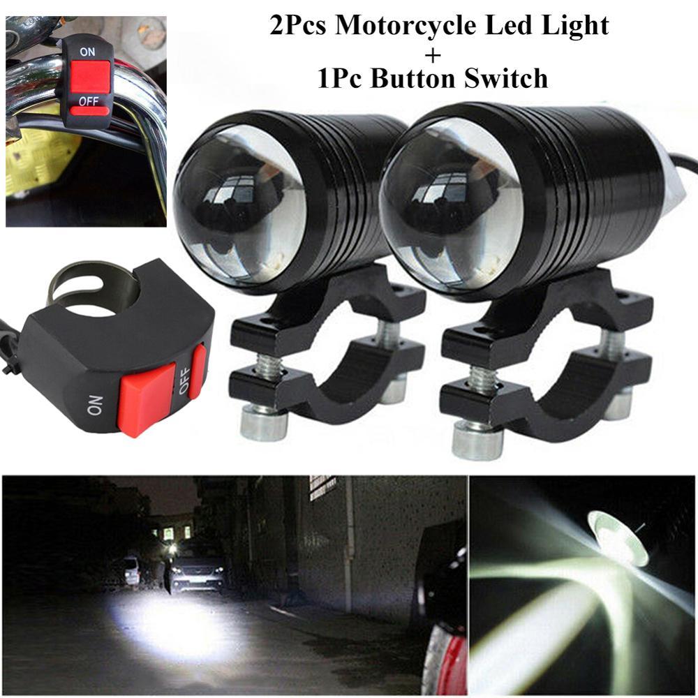 Новейший светодиодный фонасветильник для мотоцикла, лодки, лодки, с выключателем, 80 Вт, 6000LM, 6500K T6, 2 шт.