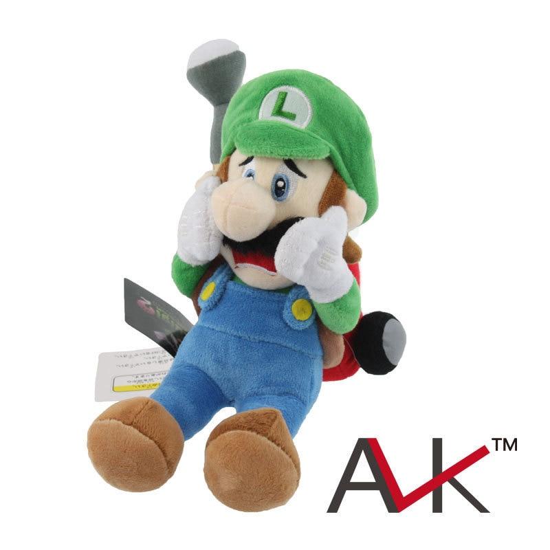 Muñeco de peluche de Luigi's Mansion 2, Super Mario Luigi Bros, 18cm