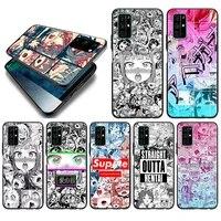 ahegao manga girl silicone cover for huawei honor 10i 10 9c 9a ru 9x 9n 9s 9 pro lite play 3e v9 black phone case