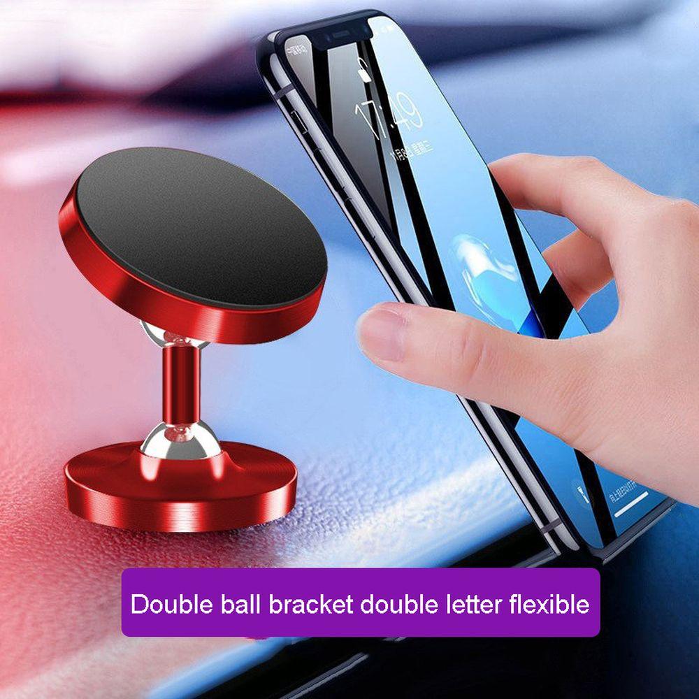 Famende Phone Holder Metal Lazy Bracket Magnetic Double Ball Metal Car Holder Support For Cell Phone Universal Bracket