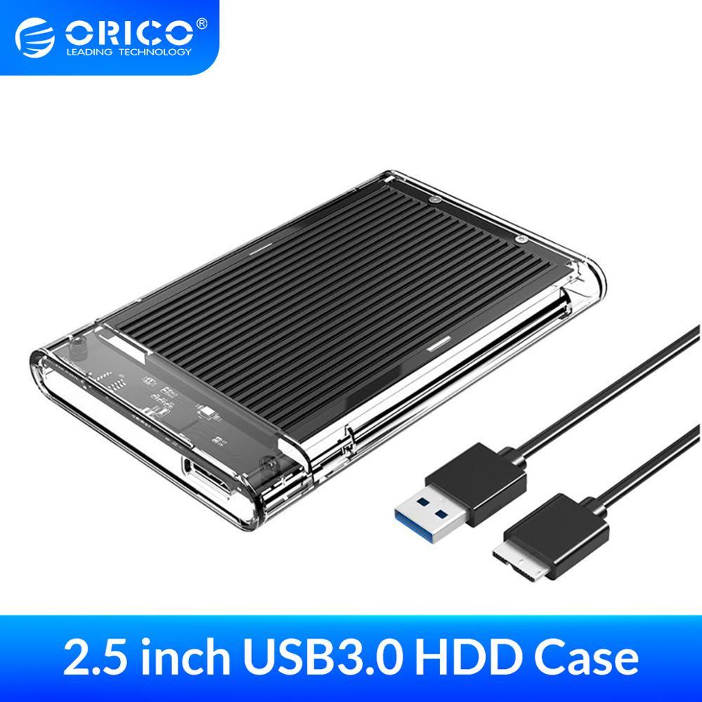 Корпус для жесткого диска ORICO, SATA к USB 3,0, корпус для жесткого диска, инструмент для 7/9, 5 мм, 2,5 дюйма, Sata SSD до 4 ТБ, коробка для внешнего жесткого диска