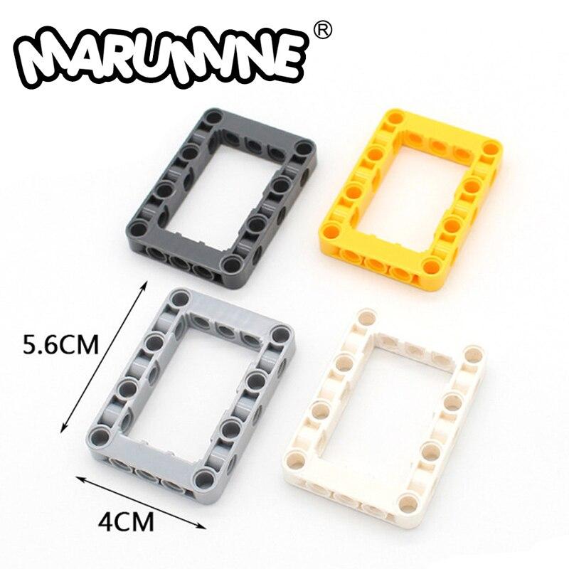 Marumine técnica liftarm em linha reta 20 pçs/lote técnica elevador braço construção tijolos conjunto brinquedos educativos para crianças