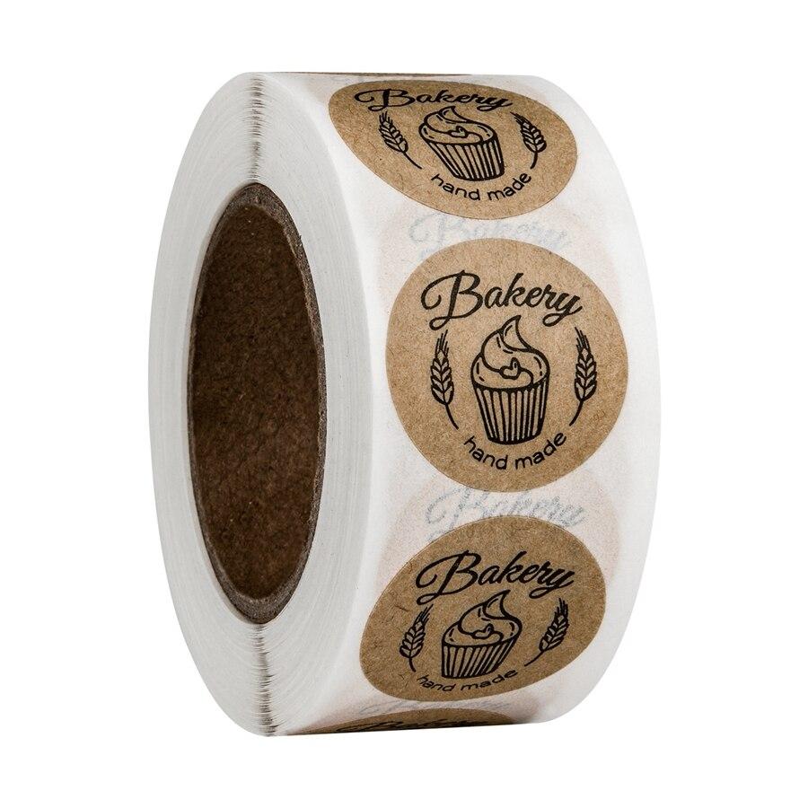 500 шт. Винтаж крафт Бумага запеченные с любовью Наклейки Скрап Бумага Подарочная канцелярская этикетка наклейки ручной работы спасибо само...