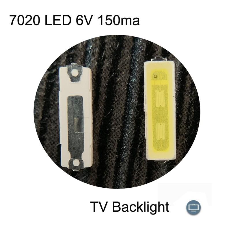 100pcs lot everlight 3030 smd led 1w 6v cold white for tv lcd backlight 3 0 3 0 0 8mm 100pcs 7020 LED 6v Backlight 1W 85LM Cool white LCD Backlight for TV  Application smd 7020 diode