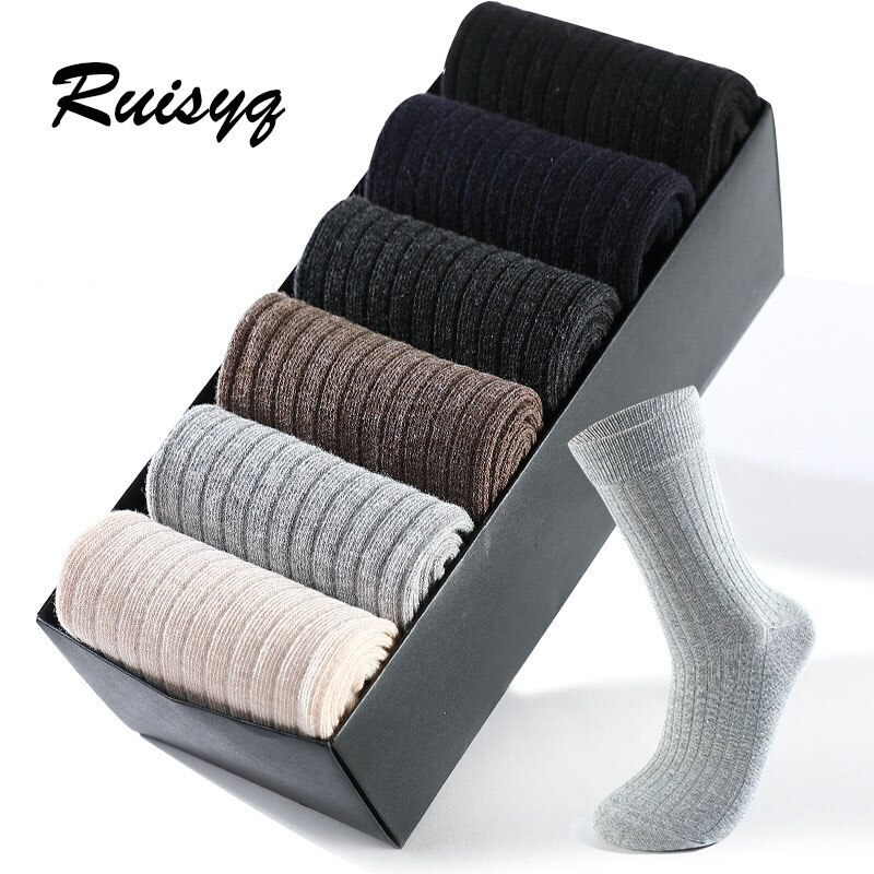 Mens cotton socks business mens deodorant crew breathable solid color classic casual