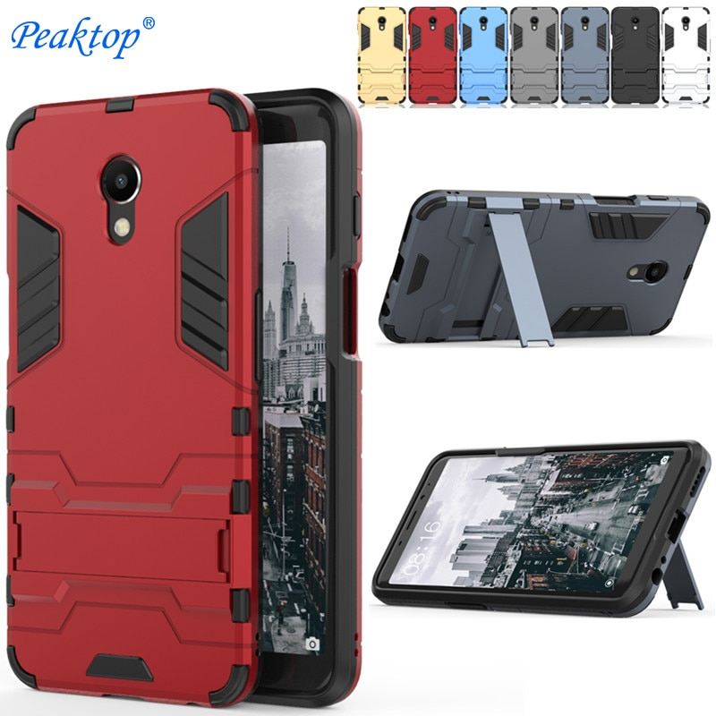 For MEIZU M3 M5 M6 note Case For Meizu M5S M6S M5C MX6 MX5 Pro 5 6 Armor Cover Stand Silicone PC Pho