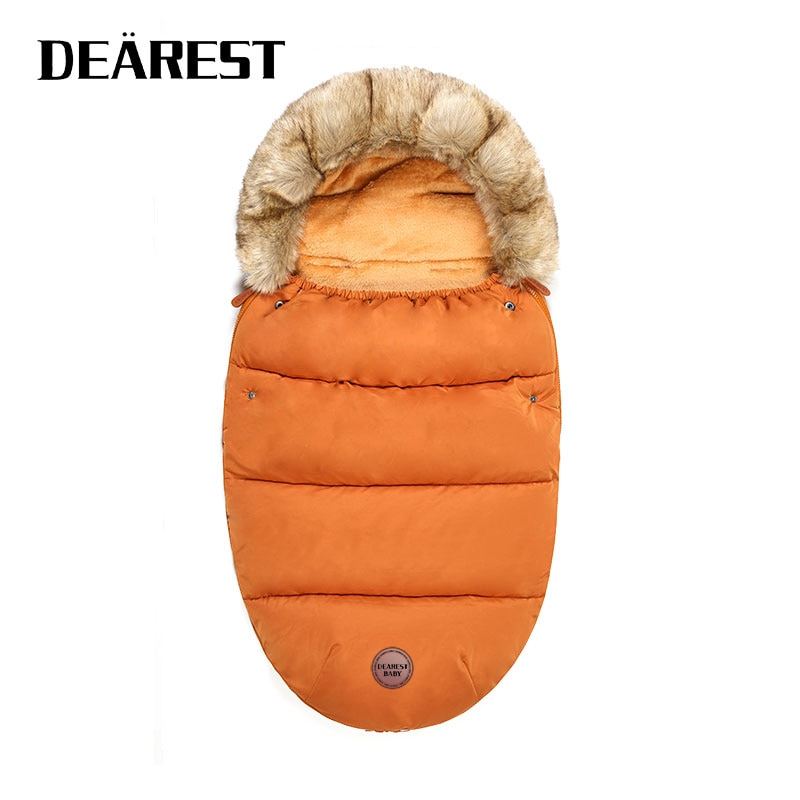 Dearest Baby Stroller Sleeping Bag Warm Stroller Foot Cover Universal Thickening Cushion Foot Cover Windshield Winter