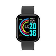 Nouveau!!!2020 montre intelligente Smartwatch pour Android IOS électronique horloge intelligente Fitness Tracker bracelet en Silicone montre intelligente heures