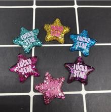 Wholesale! Kawaii lUCKY STAR Resin Crafts Flat Back Resin Cabochons Glitter Star for Hair Bow Center  Scrapbook Embellishment