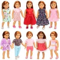 new fashion 10 itemslot random doll accessories 43 cm kids toys 18 inch dolls clothes for america girl best diy birthday gift