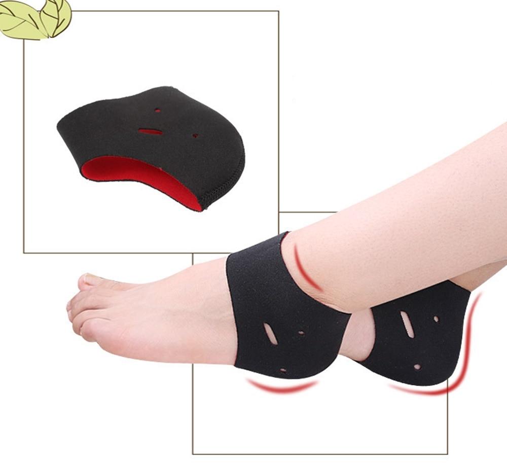 1 par de calcetines de tacón acolchados, calcetines deportivos para aliviar el dolor, para hombres y mujeres, alivia la tendinitis, fascitis, para Plantar de pie, herramienta de cuidado