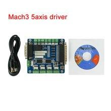 CNC Mach3 5 axes USB interface pilote contrôleur de mouvement carte de commande pour CNC 3020 3040 6040 machine de gravure