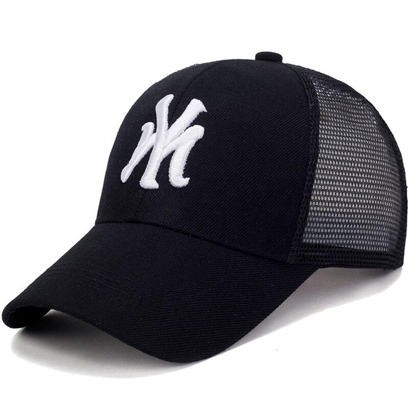 Бейсболка унисекс с вышивкой букв, сетчатая Спортивная Солнцезащитная шапка, мужская и женская хлопковая Повседневная шапка, брикет MZ0007