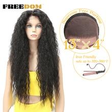 Perruque Lace Front Wig bouclée et coquine 30 pouces   Perruque frontale à dentelle ombrée de Long avec Baby Hair, perruques résistantes à la chaleur naturelles pour femmes