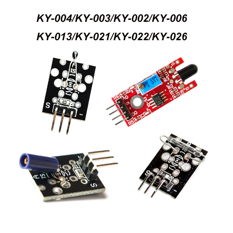 For Arduino DIY electronic module temperature sensor infrared sensor key switch vibration switch module KY-002 003 013 021 022