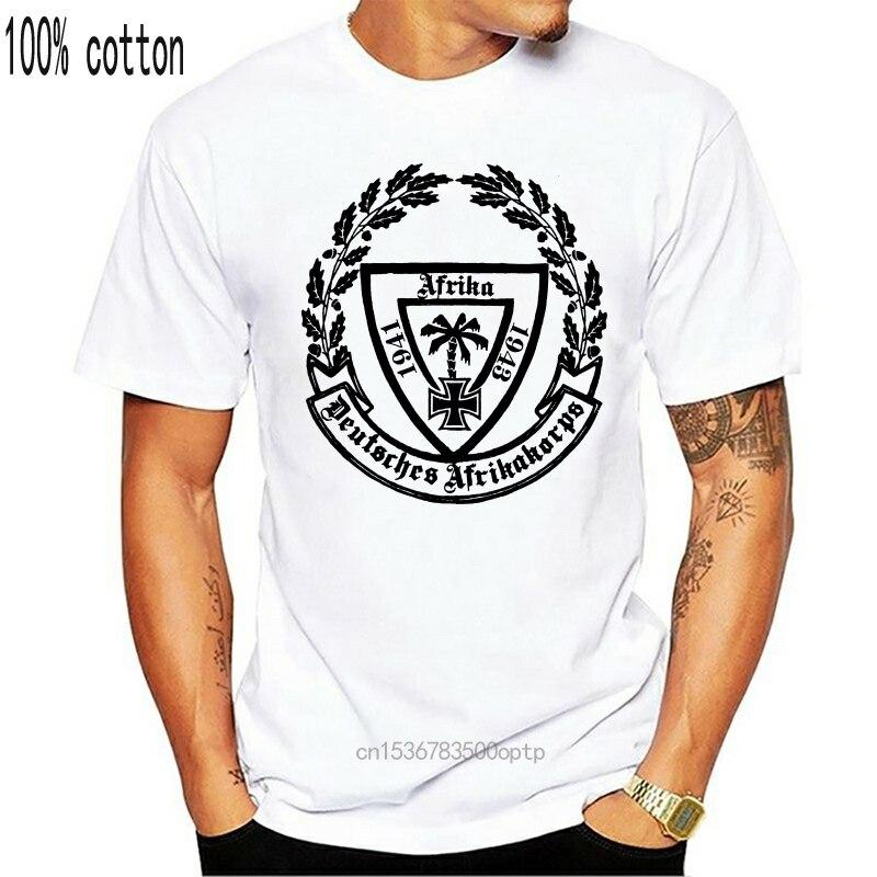 África corps deserto raposa erwin rommel 1941-1943 guerra ww2 2019 nova marca roupas homem legal o-pescoço topos neon t camisas