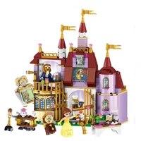 beauty and the beast princess belles enchanted castle action figure blocks bricks toys for children lepining mini legoinglys