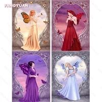 5d diy diamond painting angle character with wings full round square drill butterfly fairy home decor handcrafts handmade gift