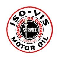 iso vis standard motor oil car moto stickers decals 027016