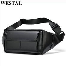 WESTAL belt bag leather waist bag for phone belt pack men pouch bags male fanny pack genuine leather bag for men waist bag belt