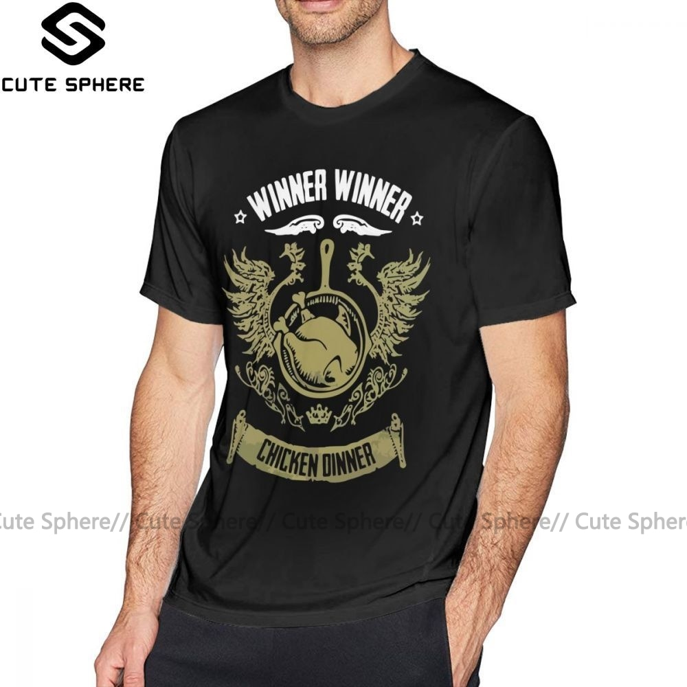Camiseta de jugador desknown S Battlegrounds, camiseta PUBG GANADOR CENA de POLLO 100% algodón, camiseta XXX