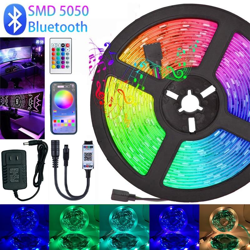 strisce-led-luci-rgb-5050-dc-12v-ip20-luces-striscia-led-nastro-flessibile-diodo-bluetooth-wifi-adattatore-telecomando-ir