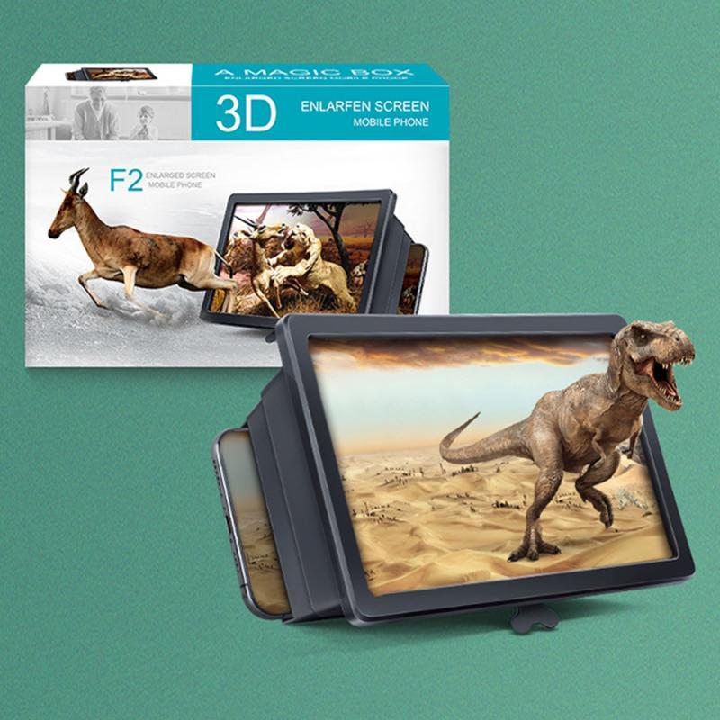 F2, teléfono móvil, pantalla de película 3D, ampliación, proyector de lupa para Iphone, Samsung, Xiaomi, Huawei, amplificador de sonido para teléfono inteligente TXTB1