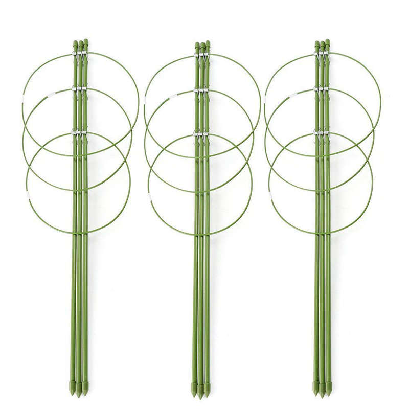 Promotion! Climbing Plants Support, Garden Trellis Flowers Tomato Cages Stand Set Of 3 Pack