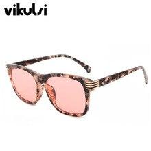 Lunettes De soleil classiques unisexes   Carré rose ambre, lunettes De soleil colorées en métal à la mode pour femmes, ombres dégradées, Oculos De Sol UV400
