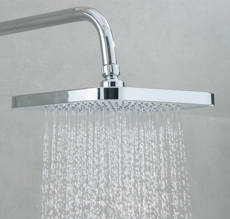 Free Shipping Abs Chrome Finish 8 Inch Waterfall Square Shower Head With Shower Arm Or Ceiling Arm