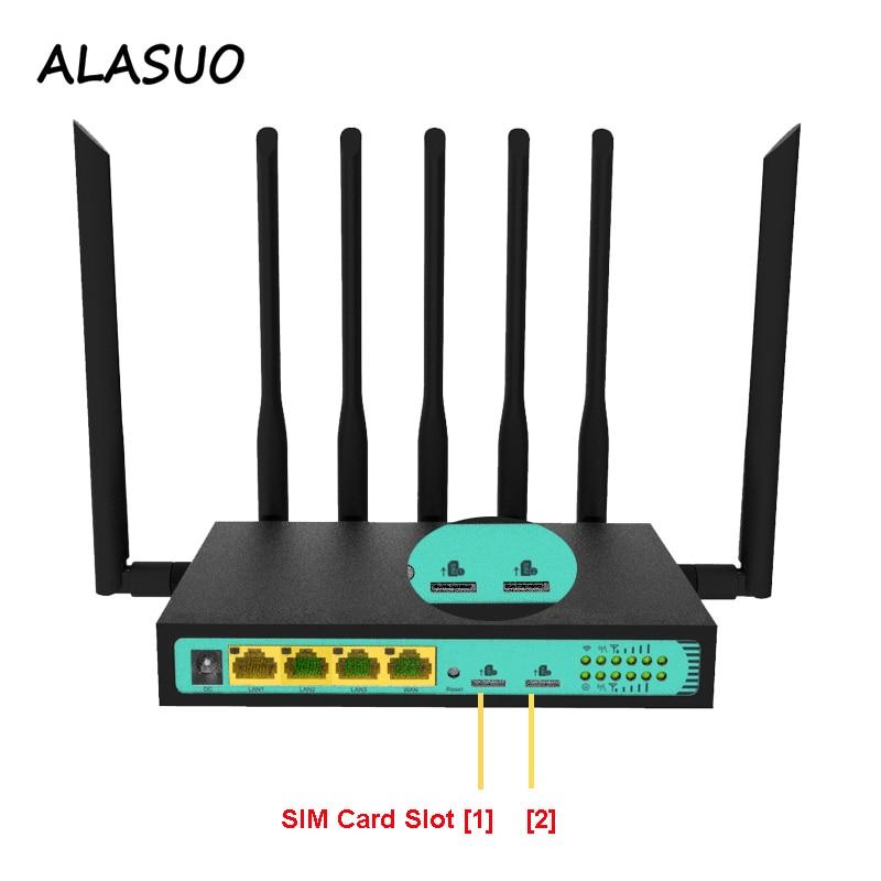 3G 4G Wifi Router Dual Sim Slot Industriële 4G Lte Modem Router Met Sim Card Slot 300 mbps Breedband Vpn Router Draadloze