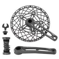 jiankun folding bicycle crank set bcd130mm ultra light aluminum alloy hollow crankset chain ring 52535658t bike crankset
