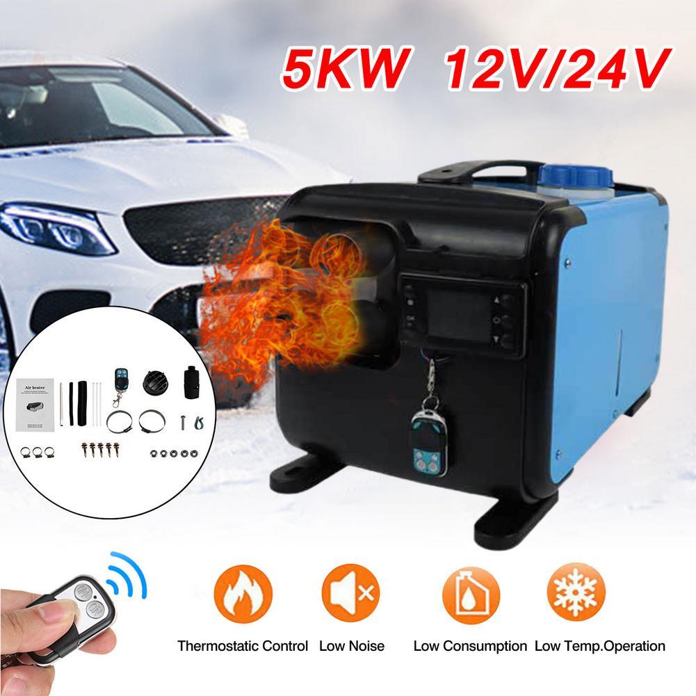12/24V 5KW Universal Car Diesel All-in-one Fuel Air Parking Heater For RV/Trailer/Trucks/Motor-home/Boats/Camper Van Winter Warm