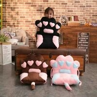 2pcsset cats claw back cushion cats tail seat cushion kids gift plush toy home chair seat cushion sofa throw pillow nap pillow