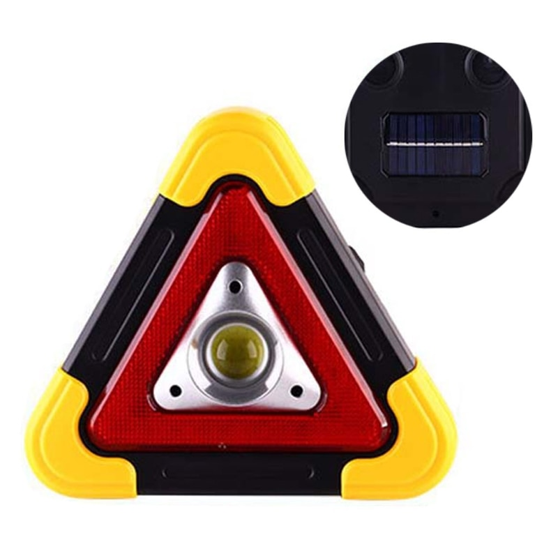 Multi Function Triangle Warning Sign Car LED Work light Road Safety Emergency 652E