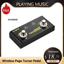 CUVAVE Cube Turner Wireless Page Turner Pedal Supports Looper Connection Compatible with iPad iPhone