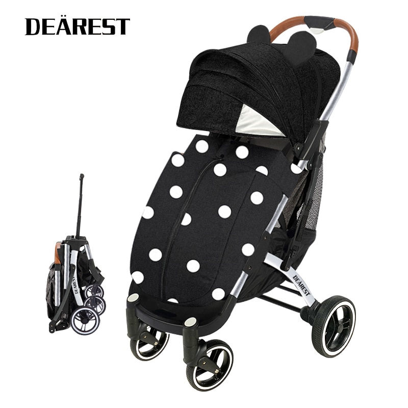DearestPro Baby Stroller Can Sit And Down Portable Folding Carriagearest 4-Wheel