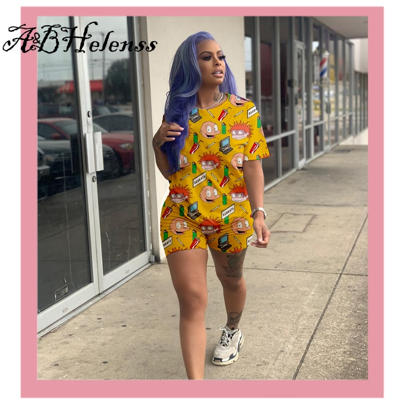 cute-cartoon-tops-and-bikers-shorts-two-piece-sets-2020-sumemr-short-sleeve-tracksuit-for-women-casual-outfits-fitness-clothing