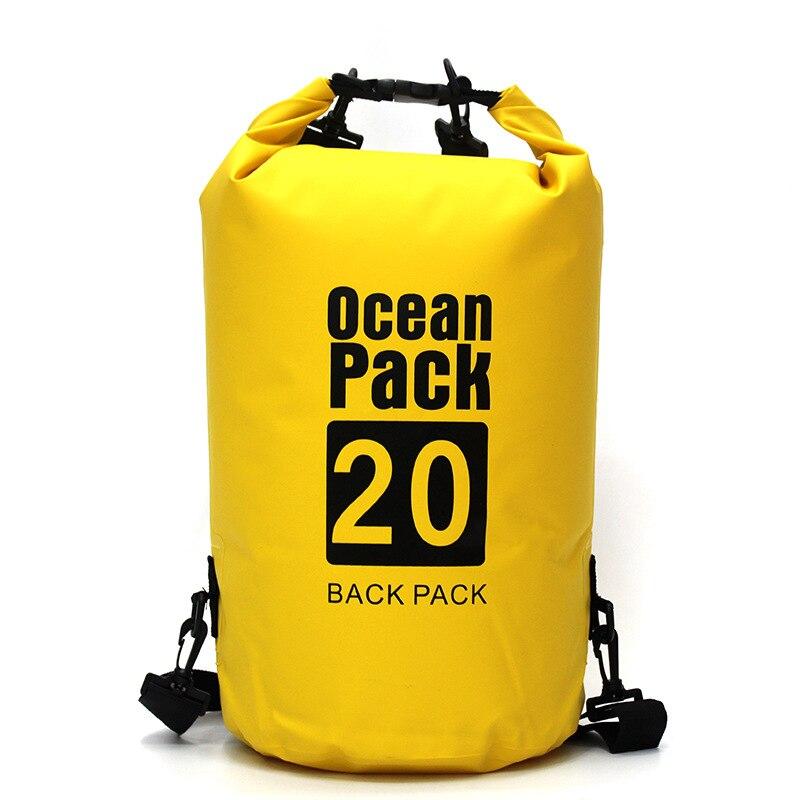 Cubo impermeable bolso de hombro doble bolsa de deriva bolsas impermeables al aire libre bolsa de secado flotante de natación