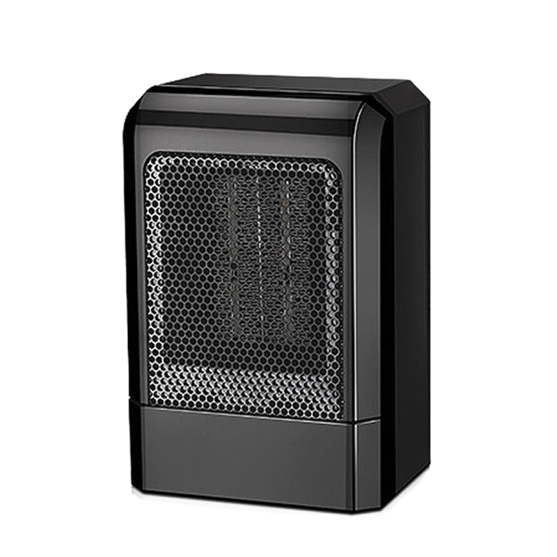 500W MINI Portable Ceramic Heater Electric Cooler Hot Fan Home Winter Warmer Black EU Plug