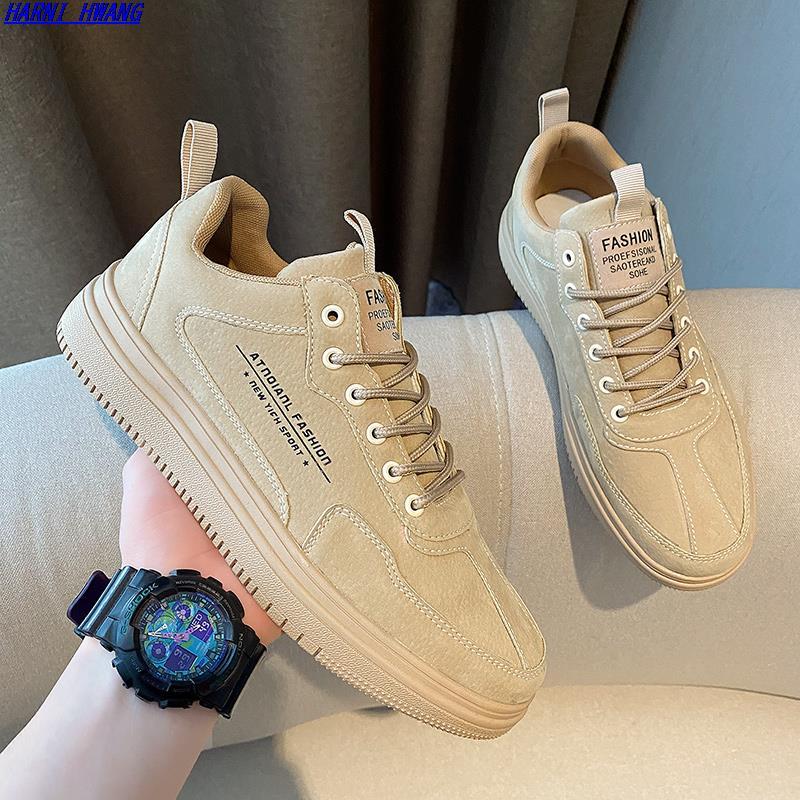 Мужская обувь, роскошная брендовая Высококачественная Мужская осенне-зимняя новая повседневная обувь, трендовая низкая универсальная муж...