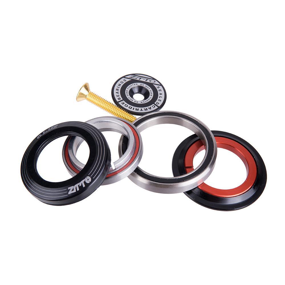 "Auriculares de bicicleta 44/1 1/8 56mm ""-1 1/2"" para MTB Road Bike, auriculares, tubo cónico, horquilla frontal, rodamiento de contacto Angular integrado"