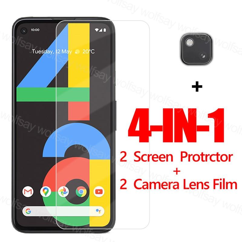 Cristal adhesivo completo de párr de Google para Google Pixel 4A Protector de pantalla Pixel 4A 5 templado teléfono Protector de